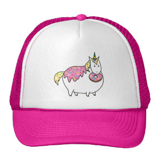 Bijorn The Chubby Unicorn Loves Sprinkle Doughnuts Cap