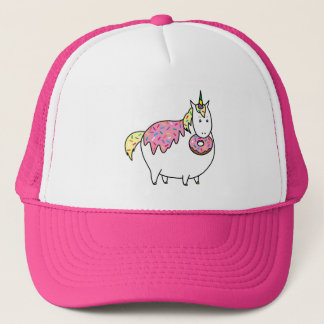 Bijorn The Chubby Unicorn Loves Sprinkle Doughnuts Trucker Hat