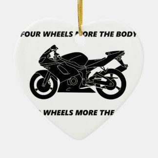 Bike and body soul ceramic heart decoration