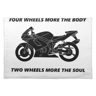 Bike and body soul placemat