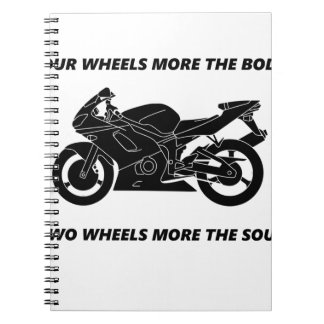 Bike and body soul spiral notebook