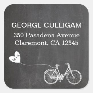 Bike and heart Address Label - wedding postage