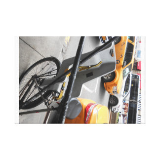 Bike and me canvas print