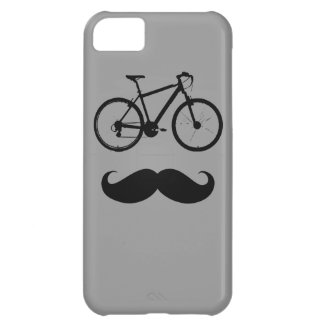 bike and mustache iPhone 5C case