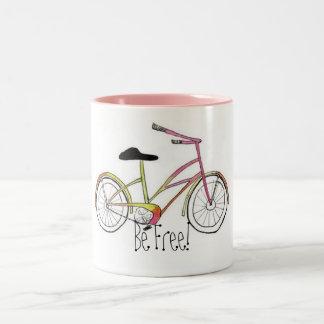Bike, be Free! Two-Tone Coffee Mug