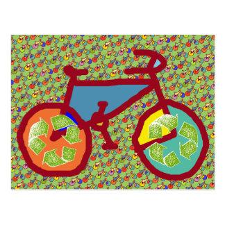 bike , bicycle ; biking / cycling postcard