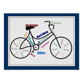 Bike, Bicycle Customize color, Motivational Poster