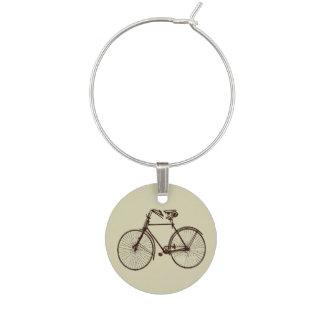 Bike bicycle oatmeal cream brown wine charm
