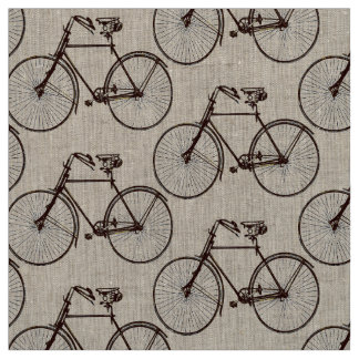 Bike bicycle  pretty spring fabric brown