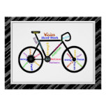 Bike, Bicycle  Sport, Motivational Words & Stripes Posters