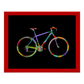 bike bikes print decor