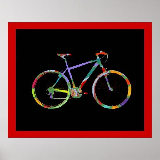bike bikes print decor