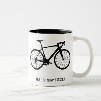 Bike bw , This is how I ROLL Two-Tone Mug