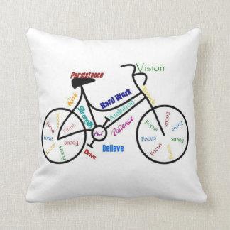 Bike, Cycle, Motivational Words Cushion