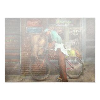 Bike - Delivering groceries 1938 13 Cm X 18 Cm Invitation Card