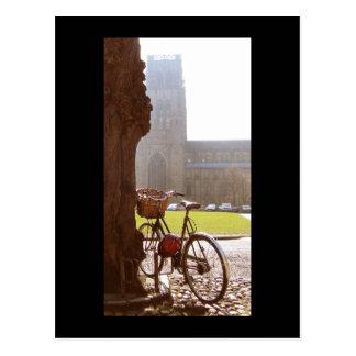 Bike & Durhm Cathedral Postcard