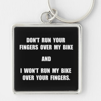 Bike Fingers Key Ring