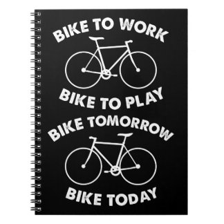 Bike Forever - Cool Cycling Spiral Notebook