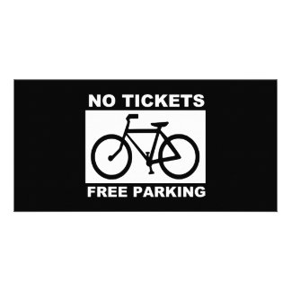 bike_free_parking_Vector_Clipart Personalised Photo Card