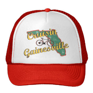 Bike Gainesville Bicycle Florida Trucker Hats