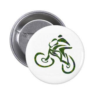 Bike Green Fields Pinback Button
