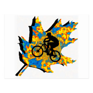 Bike Hippie Leaf Postcard