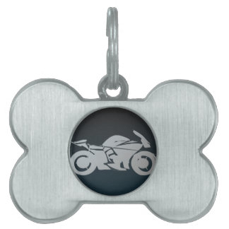 bike_icon_Vector_Clipart MOTORCYCLE MOTORBIKE STRE Pet ID Tag