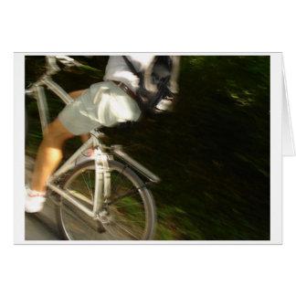 Bike in Motion Greeting Card