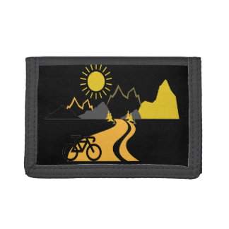 Bike in the Mountains Nylon Wallet