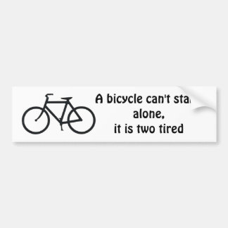 Bike joke bumper sticker