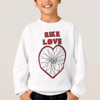 Bike Love Bent Wheel (black spokes) Sweatshirt