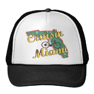 Bike Miami Bicycle Florida Mesh Hat