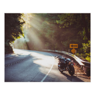 Bike / Motorcycle on the Road Poster