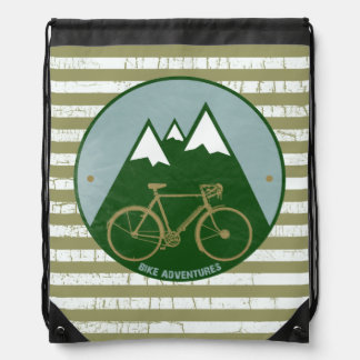Bike mountain adventures drawstring bag