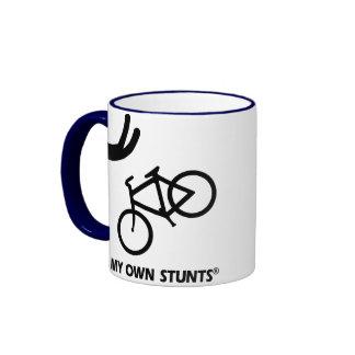 Bike My Own Stunts Ringer Mug