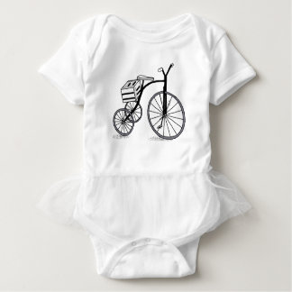 Bike on 3 wheels baby bodysuit