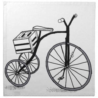 Bike on 3 wheels napkin