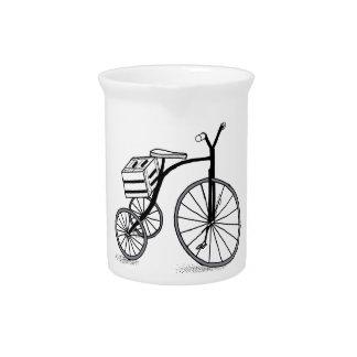 Bike on 3 wheels pitcher