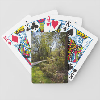 Bike Path in Iowa Photo Bicycle Brand Playing Card