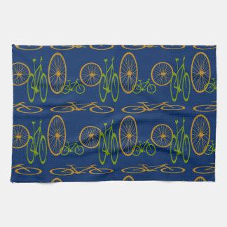 Bike pattern hand towels