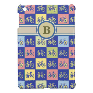 bike pattern with initial iPad mini cases