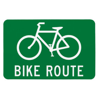 Bike Route Cycling Path Bicycle Lane Road Sign Magnet