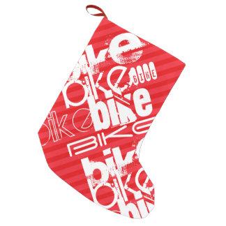 Bike; Scarlet Red Stripes. Small Christmas Stocking