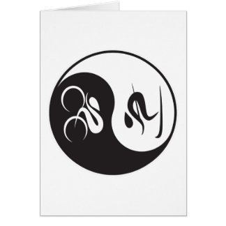 BIKE-SKI YIN-YANG CARD
