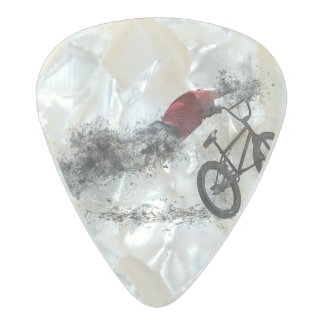 Bike Sport BMX Pearl Celluloid Guitar Pick