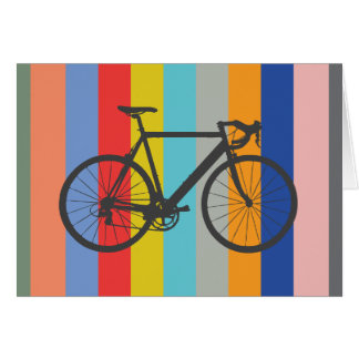 Bike Striped Multi-Color Rainbow Card