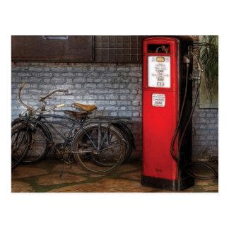 Bike - Two Bikes and a Gas Pump Postcard