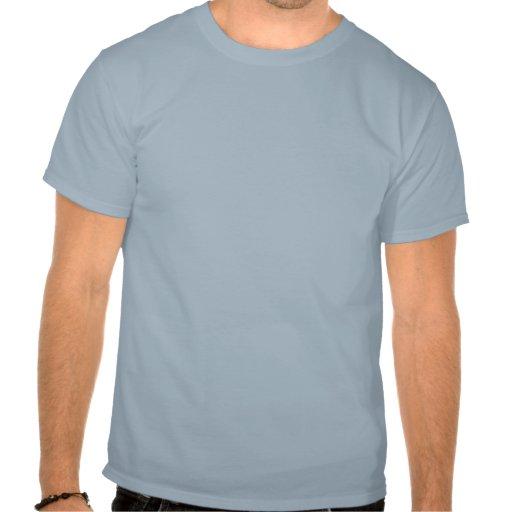 Bike, Vertical Silhouette, Blue Design Tee Shirt