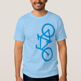 Bike, Vertical Silhouette, Blue Design Tshirt