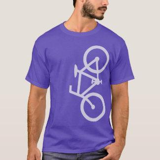 Bike, Vertical Silhouette, Lt Purple Design T-Shirt